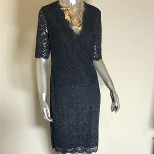 NWT Ivanka Trump Navy Blue Lace Dress